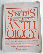Singers Musical Theatre Anthology V1 Soprano Piano Unmarked
