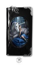 Stokes Borsa Blu Anne LUNA Unicorno Fata 3d NERO FANTASY WALLET LENTICOLARE