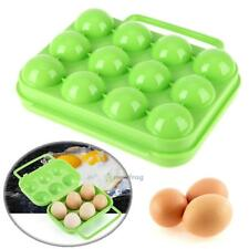 Portable 12 Egg Case Kitchen Container Travel Hiking Camping Carrier Storage Box