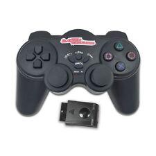 NJP216 2.4G Wireless Shock Controller Game Pad Joystick Joypad for PS2 Black