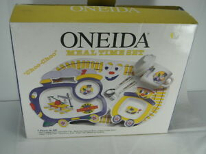 7 PIECE ONEIDA MEAL TIME RAILROAD CHILDS SET-NIB