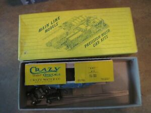 HO SCALE CRAZY WATER CRYSTALS 40' WOOD REEFER BY MAINLINE MODELS