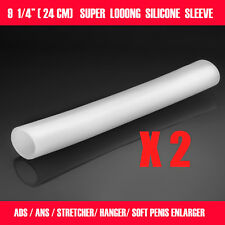 2 PIECES 9.25'' SILICONE SLEEVES FOR EXTENDER STRETCHER HANGER PUMP JELQING ADS