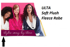 Ulta L-XL Snow White Plush Soft Robe BATHROBE Fleece Women's Spa Wrap SEALED NEW