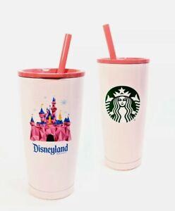 Disney Parks Disneyland Pink Castle Starbucks Tumbler New in Box