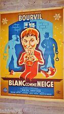 bourvil BLANC COMME NEIGE ! affiche cinema tres rare 1947