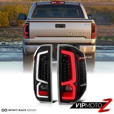 Black Housing Clear Lens Full LED Brake Signal Tail Lamp For 14-18 Toyota Tundra