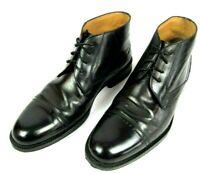 Johnston & Murphy Signature Series Mens Black Sheepskin Leather Chukka Boot 9 M