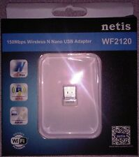 Netis Systems 150Mbps Wireless-N NANO USB Adapter Model WF2120 NO UPC