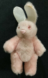 """Vintage Pink Bunny Rabbit Jointed Hard Body 4.5"""""""