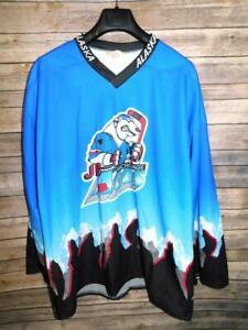 Vintage Anchorage Alaska Aces Jr Hockey Jersey Adult 2X XXL Shirt Polar Bear