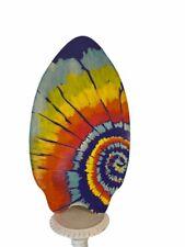 """Skim Lizard Skimboard Tie Dye 2010 Large Skim Boogie Board 34"""" x 19"""" Wooden"""