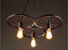 Farmhouse Lighting Chandelier Rustic Vintage Wagon Wheel Edison Light Fixture