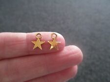 Pack of 30 Antique Gold Tone Mini Star Charms Wish upon a star 11mm x 8mm