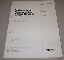 Werkstatthandbuch Opel Sintra Automatisches 4 Gang Getriebe AF 30 Februar 1997!