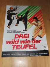 3 WILD WIE DER TEUFEL - Kinoplakat A1 ´78 - EASTERN Kung Fu
