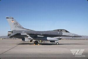 Original slide 90-724 Lockheed F-16 U.S. Air Force, USAF, 1982