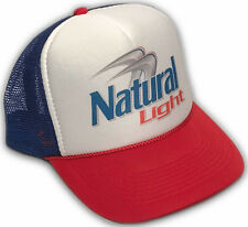 Natural Light Beer Trucker Hat Vintage Snapback Natty Lite Party Cap RWB Mesh