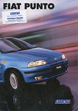 Fiat Punto Prospekt 1/98 brochure 1998 Autoprospekt Auto PKWs Broschüre Italien