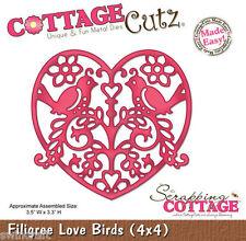 Cottage Cutz Matrices Corte Die Filigrana Amor Aves CC4x4-461 *