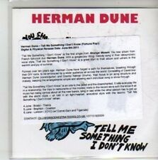 (CH586) Herman Dune, Tell Me Something I Don't Know - 2011 DJ CD