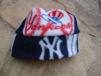 New York Yankees MLB Fleece Hat Sizes Newborn baby girls boys, children, mens