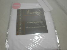 New Pradip Home ESSENCE Two Standard Pillowcases 600 Thread Count White NIP