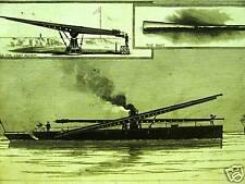 DYNAMITE GUN FORT HAMILTON BROOKLYN NYC 1884 Art Matted