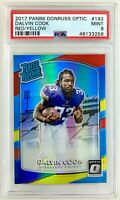 DALVIN COOK 2017 Donruss Optic Red Yellow Prizm Rated Rookie RC PSA 9 HOT INVEST