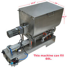 New listing Low Noise:100-1000ml Paste Filling Mixing Machine,Can Mix,Fill 15.8 gal Newest