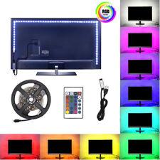 1M 5050 SMD USB RGB LED Stripe TV Hintergrund-Beleuchtung Licht + Fernbedienung