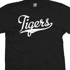 Tigers Script Tail Shirt - High School Sports Baseball Team - All Sizes & Colors