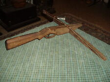 Antique HAND MADE WOOD CROSSBOW Rare Folk Art Hunting Collector !