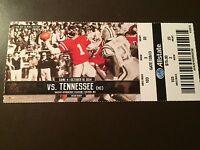 Ole Miss Rebels 2014 NCAA football ticket stub vs Tennessee Volunteers
