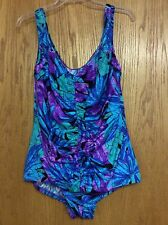 Maxine of Hollywood Colorful One Piece Bathing Suit Size 20W