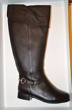 Ros Hommerson Black Leather Wide Calf Riding Boots, US 6