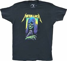 Men's Metallica Black Vintage Death Reaper Rock N Roll 80s 90s T-Shirt Tee New