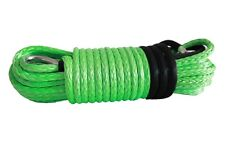 "1/2""*100ft Green Synthetic Winch Rope,ATV Winch Cable,Off Road Rope with Sheath"