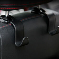 1x Universal Car Hanger Bag Organizer Hook Seat Headrest Holder Black Accessory