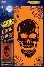 Light-Up Skull Door Cover, Orange/Black, Forum Novelties