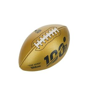 "Wilson ""The Duke"" Official Leather NFL Football 2019 100th Anniversary Gold LE"