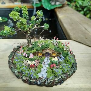 Otherworldly Fantasy Magical  Miniature fairy House OOAK Handcrafted