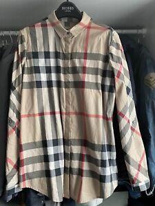 Genuine Burberry Brit Check Blouse Shirt Women's Size M