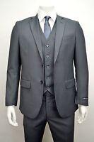 Men's Charcoal Gray 3 Piece 2 Button Slim Fit Suit SIZE 52L NEW