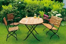 Sitzgruppe Gartengarnitur Gartenmöbel Set SCHLOSSGARTEN 4-teilig, Metall Holz