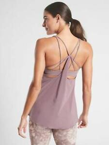 NEW ATHLETA FLORA MAUVE SOLACE SUPPORT TOP IN POWERVITA S