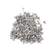200 PCS Metal Studs Rivet Bullet Spikes for Leather Bracelets/Dog Collars/Bags