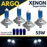 Bmw H7 H7 501 55w Super White Xenon Hid High/low/sidelight Beam Headlight Bulbs