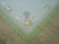 Vintage Portugal Easter Linen decorative Tablecloth - Lovely Goose Geese