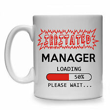 IRRITATED MANAGER LOADING GIFT MUG CUP PRESENT FUNNY LINE THE BOSS HUMOUR